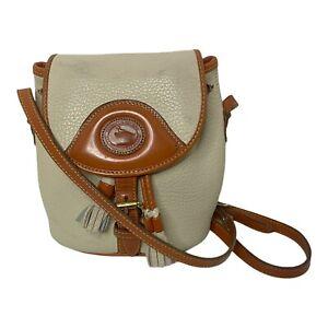Dooney & Bourke Vintage Pebble Leather Mini Bucket Crossbody Drawstring Bag