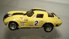 Ho Aw Johnny Lightning Tjet 500 Corvette Grandsport lemon/blk w/running chassis