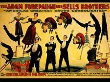 ADVERTISING CIRCUS FOREPAUGH SELLS ACROBAT TROUPE ART POSTER PRINT LV613