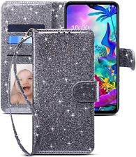 CHICASE Case for LG G8X Thinq/V50S Thinq,Folding Flip Glitter Bling Cute Leather