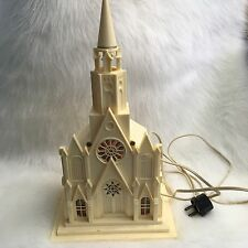 Raylite Electric Corp Vintage Antique Light Up Church Music Box Silent Night 40s