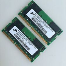 Micron 1GB KIT 2x 512MB PC133 133MHz SO-DIMM SDRAM 144pin laptop memory Notebook