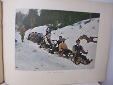 Suisse: Gravure 19° in folio couleur /Descente en traineau