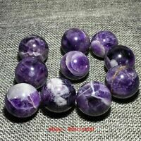 Natural Dreamy Amethyst Sphere Quartz Crystal Ball Reiki Healing 5PCS