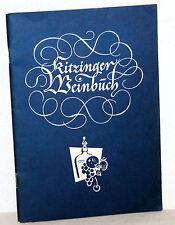 KRITZINGER WEINBUCH - Ratgeber für die Selbstbereitung von Obstgetränken