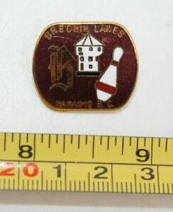 Brechin Lanes Nanaimo BC Canada 5 Pin Bowling Centre Collectible Pin Vintage