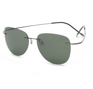 Pure titanium Sunglasses Rim Aviator Pilot Polarzied SUN Glasses Night vision