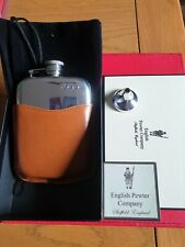More details for english  pewtor company hip flask brand new  in box