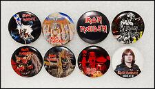 Iron Maiden Lot Of 8 80's Original Buttons Pin Badges Powerslave Purgatory