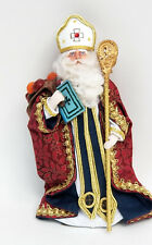 RARE 1996 SIGNED GLADYS BOALT VICTORIAN ST. NICHOLAS SANTA CHRISTMAS ORNAMENT