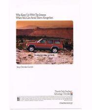 1992 Jeep CHEROKEE LAREDO Red 4-door in the Desert Vtg Print Ad