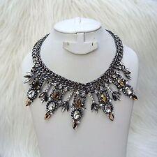 Statement Retro Silver Necklace Jewellery