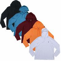 Polo Ralph Lauren Mens Hooded T-Shirt Long Sleeve Hoodie Tee S M L Xl Xxl New