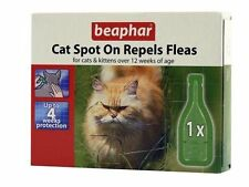Beaphar Cat & Kitten Flea Spot On Treatment Repels Fleas & Ticks for 4 Weeks