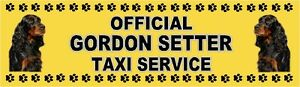 GORDON SETTER OFFICIAL TAXI SERVICE Dog Car Sticker  By Starprint