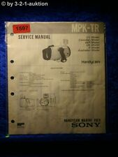Sony Service Manual MPK TR Handycam Marine Pack (#1597)