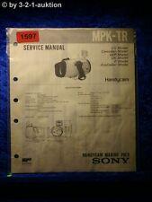 Sony Service Manual MPK TR Handycam Marine Pack (#1597)