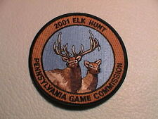 2001 PA PENNSYLVANIA GAME COMMISSION SUCCESSFUL ELK HUNTER GUN HUNTING PATCH