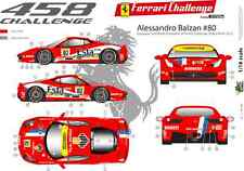 [FFSMC Productions] Decals 1/18 Ferrari F-458 Challenge 2012 Alessandro Balzan