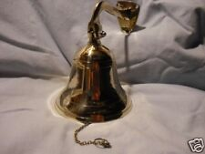 "4"" Polished Brass Ship Bell w/ Bracket ~ Nautical Wall Decor ~ Maritime"
