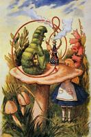 ALICE AND THE CATERPILLAR, FROM ALICE IN WONDERLAND, FRIDGE MAGNET