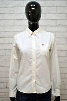 Camicia RALPH LAUREN Donna Taglia S Blusa Manica Lunga Cotone Bianca Hemd