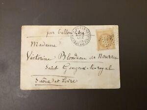 Belle lettre «Ballon Monté» Armand Barbes 4/ 101870 TB