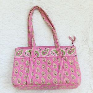 VERA BRADLEY Pink Green Floral Baby Bag Shoulder Tote Pockets