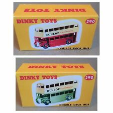 Dinky 290 'Dunlop' Double Deck Bus Empty Repro Box Only