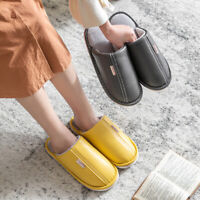 Women Men Waterproof Slippers Home Plush Slippers Thick Bottom Non-slip Shoes