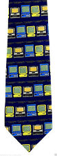 Monitor Colors Mens Neck Tie Computer Blue Necktie Tech Software Geek Gift New