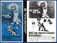 BLUE pressbook AND 3 SHEET POSTER Terence Stamp Joanna Pettit Richardo Montlaban