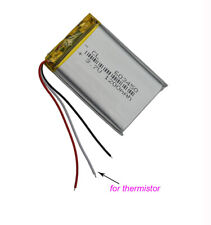 3.7v1200mah 3 Wires for Thermistor Polymer Li Battery for GPS Navigation 603450