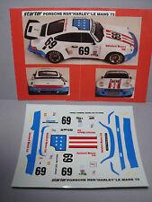 DECALS  PORSCHE 911  CARRERA  RSR  LM  1975  HARLEY  DAVIDSON  1/43  NEUF