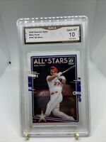 2020 Donruss Optic Mike Trout #197 All Stars GMA 10 Gem Mint Los Angeles Angels