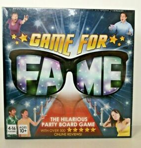 Game For Fame Board Game - Party Game - Brand New & Sealed