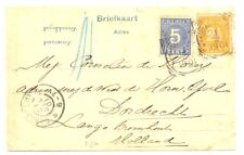 DUTCH INDIES=1901 PPC =OLEH OLEH = N.I. POSTAGENT PENANG = TO HOLLAND -FINE