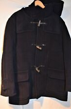 J & M Davidson ~England Classic Retro Navy Blue Herringone Duffle Coat L