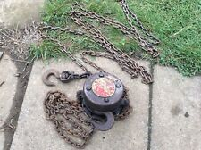 More details for felco  vintage block and tackle chain lifting hoist