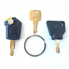 3 Pc Heavy Equipment Key Set - CAT, John Deere and JCB with Logo