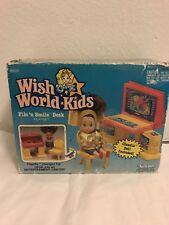 Nrfb Vintage Kenner Wish World Kids File N Smile Desk w/Claudia Doll