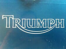 """Triumph motorcycle retro tank decal sticker 5.75""""x1.75"""" LOT OF 2 decals"""