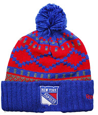 REEBOK KU81Z NHL HOCKEY POM POM KNIT HAT BEANIE TOQUE  - NEW YORK RANGERS