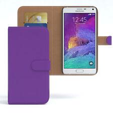 Tasche für Samsung Galaxy Note 4 Case Wallet Schutz hülle Cover lila