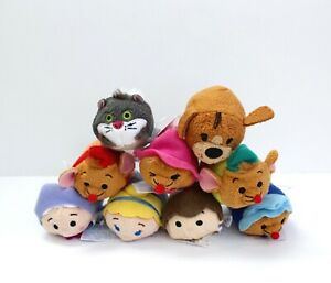 Lot of 9 Disney Mini tsum tsum Cinderella Characters Plush 3.5""