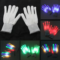 Rave Party EDC LED Glow Gloves Rave Stage Show Flash Finger Christmas Halloween