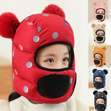 3 IN 1 Children Windproof Warm Bear Ear Protection Face Cover Protection Hat
