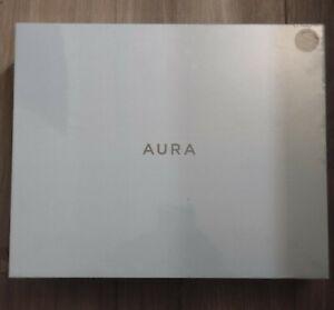 "Aura Mason 9"" LCD Wi-Fi Digital Photo Frame white AF200-GRP - New!"