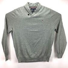 Tommy Hilfiger Mens Springfield Shawl Collar Sweater Gray XL