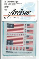 Archer US 48 Star Flags 1/35, Dry Transfers AR 35 141  ST
